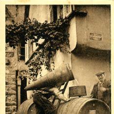 Cargando vino