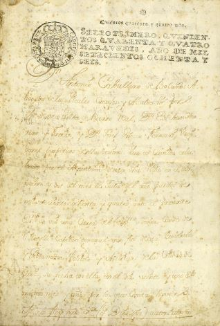 Ventas - 1787, enero, 26. Puerto Real (Cádiz)