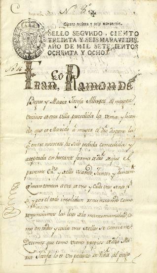 Ventas - 1788, diciembre, 16. Nava del Rey (Valladolid)