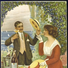 Cartel publicitario de Bodegas Bilbainas (Haro)