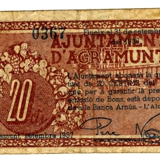 Billete de veinte céntimos