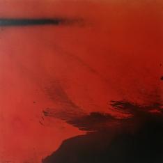 Red japanese landscape