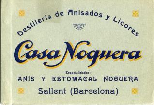 """Catálogo de productos de la Destilería de Anisados y Licores """"Casa Noguera"""" de Sallent (Barcelona)"""