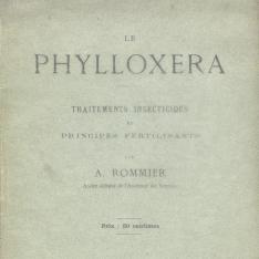 Le phylloxera Traitements insecticides et principes fertilisants