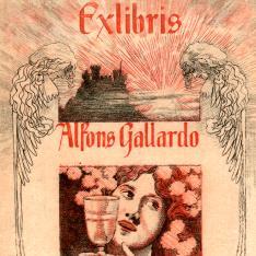Ex Libris de Alejandro de Riquel e Ynglanda