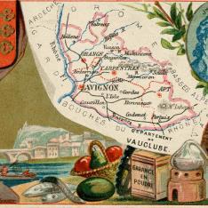 Cromo. Productos de la región de Vaucluse. Francia