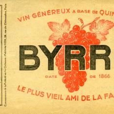 """Publicidad de vino generoso a base de Quinina """"Byrrh"""""""