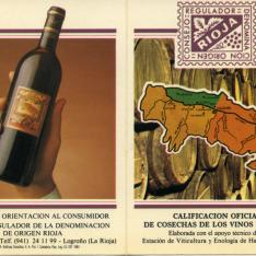 Calificación oficial de cosechas de los vinos de Rioja. Consejo Regulador de la Denominación de Origen de Rioja. 1984
