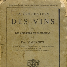 La coloration des vins par les couleurs de la houille
