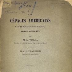 Les cépages américaines dans le Département de l´Hérault pendant l´année de 1876