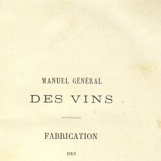 Manuel général des vins Fabrication des vins mousseux