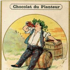 Tarjeta comercial. Chocolat du Planteur