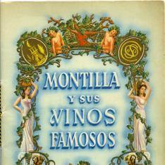 """Folleto de publicidad """"Montilla y sus vinos famosos"""" de Bodegas J. Cobos. 1949"""