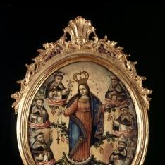 Virgen del Rosario con santos dominicos