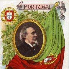 """Tarjeta comercial del productor """"Lucio Piazuelo"""" (Logroño). Serie """"Portugal"""""""