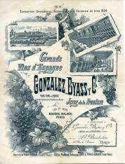 Folleto publicitario de Bodegas Gonzalez Byass y Cía. para la Exposición Internacional y Colonial de Lyon de 1894