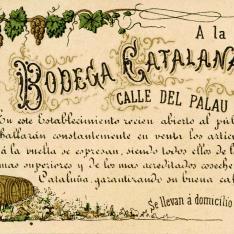 Tarjeta comercial. Bodega Catalana. [ca. 1860]