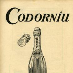 Anuncio publicitario de cava Codorníu. San Sadurní de Noya.