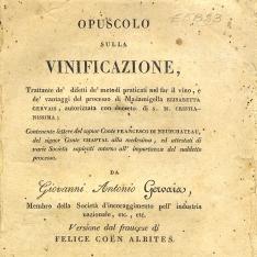 Opuscolo sulla vinificazione, [...]