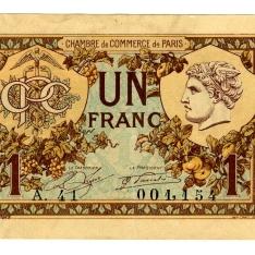 Billete de un franco