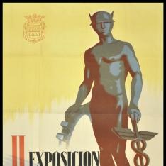 Cartel anunciador de la II Exposición Regional de productos de ambas Castillas