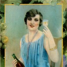 Folleto publicitario de zumo de uva sin fermentar Mostelle