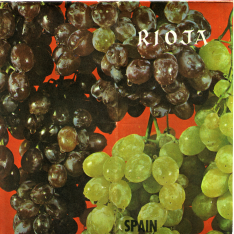 "Folleto turístico ""La Rioja produces an excellent wine for every typical dish"". 1963"