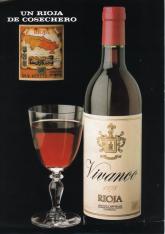 "Anuncio publicitario de vino de Rioja Vivanco, ""un Rioja de cosechero"""