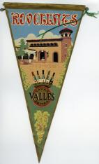 Banderín con publicidad de cavas Rovellats