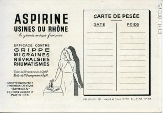 Tarjeta comercial de productos farmacéuticos. Les Vignerons